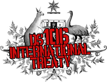 The ds106 International Treaty logo