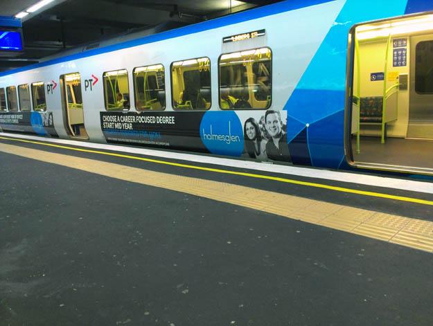 Advertising on public transport