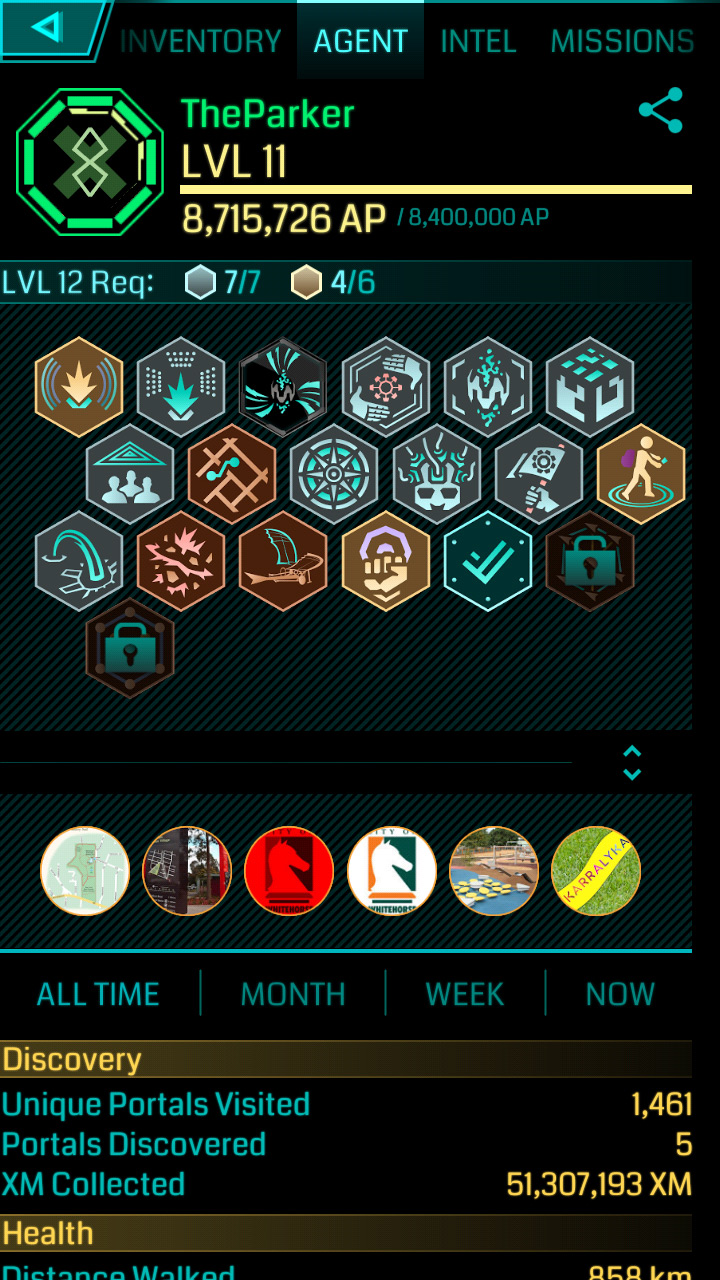 Ingress: Achievements – Level 11 – amidoinitrite?