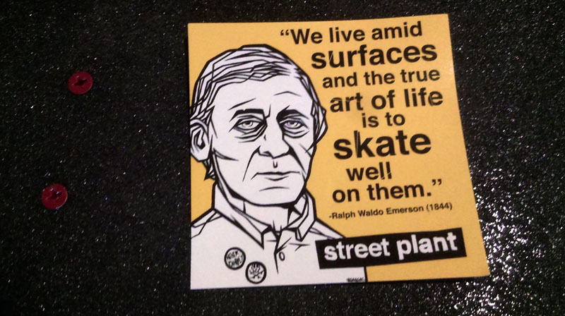 One of the many cool stickers bundled with my deck sent by Mike.