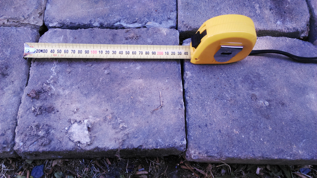 Measuring width.