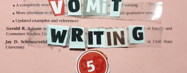 Vomit Writing #5 Writing Task
